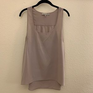 Current Affair Taupe Oversized Sleeveless Top